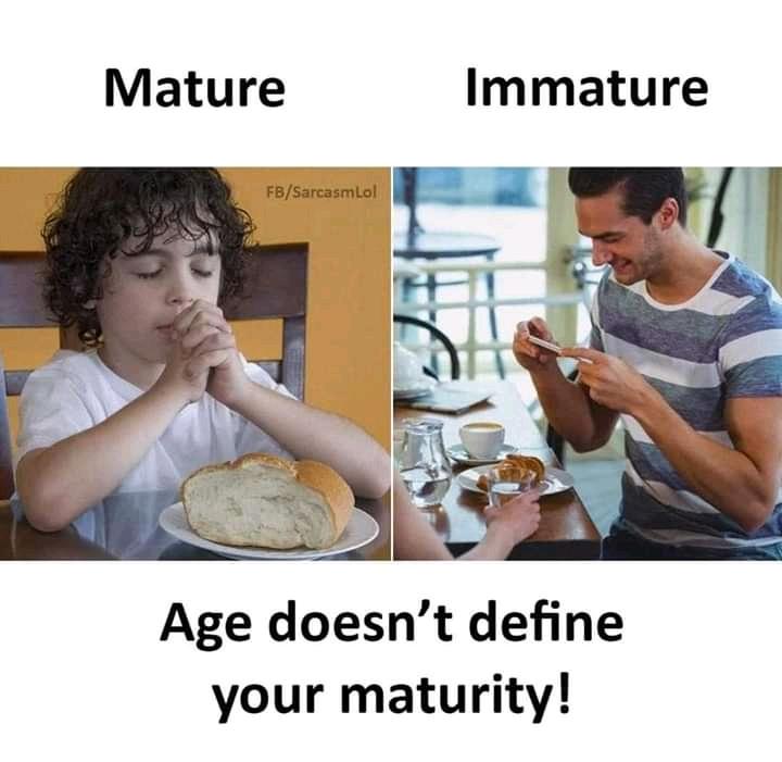 Vs immature mature Mature Defenses,